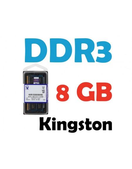Memoria RAM Kingston 8 GB DDR3 1333Mhz PC3-10600