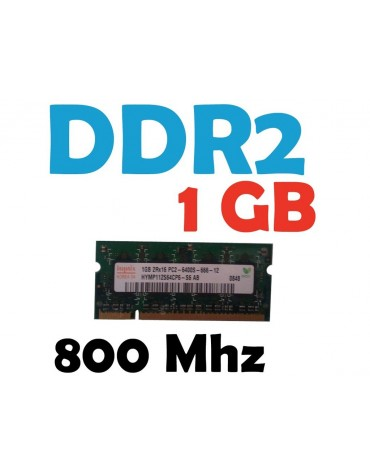 Memoria RAM 1 GB DDR2 800 Mhz PC2-6400 Laptop