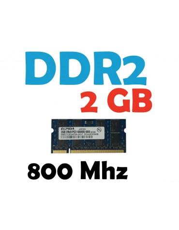 Memoria RAM 2 GB DDR2 800 Mhz PC2-6400 Laptop