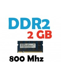 Memoria RAM 2 GB DDR2 800 Mhz PC2-6400 Laptop