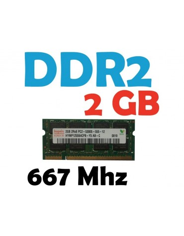 Memoria RAM 2 GB DDR2 667 Mhz PC2-5300 Laptop